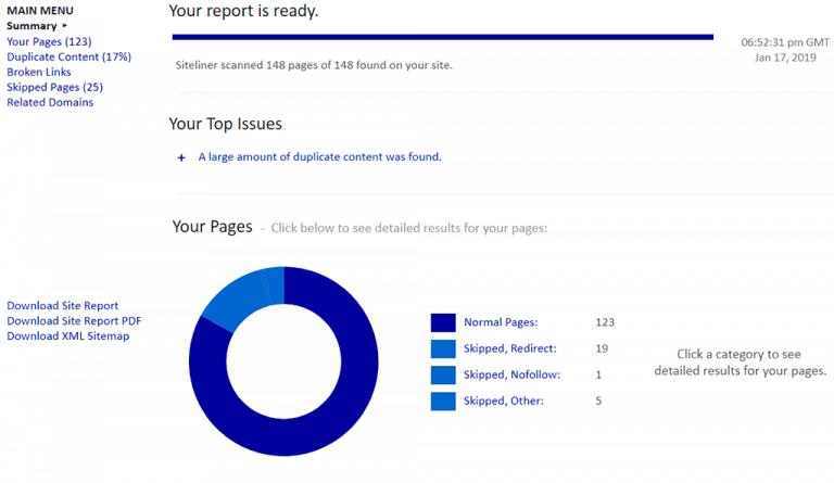 Siteliner Report