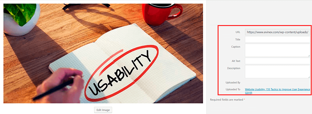 Accessibility - Alt Texts to Media
