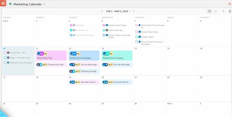 coschedule marketing calendar