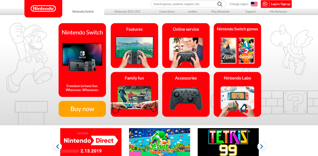 Navigation - Nintendo