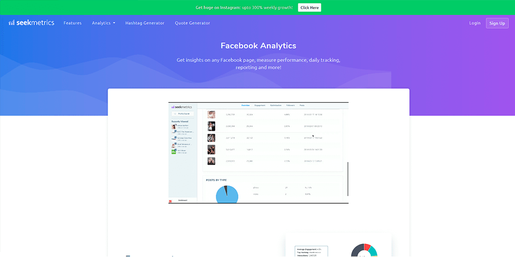 Facebook Analytics - Seekmetrics