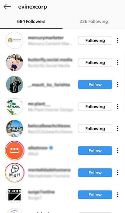 instagram evinex followers