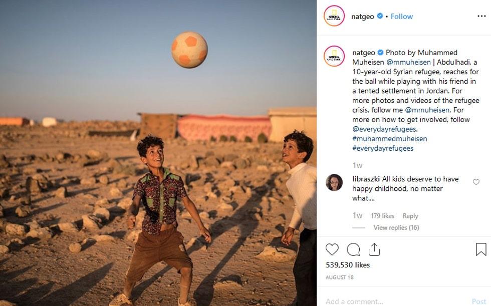 instagram national geographic description in caption