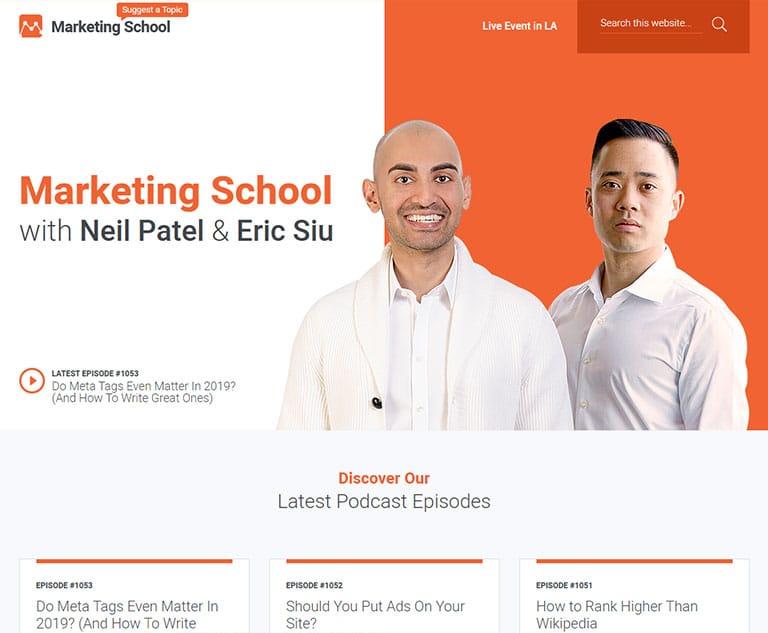 podcasts marketing school b2b marketing types