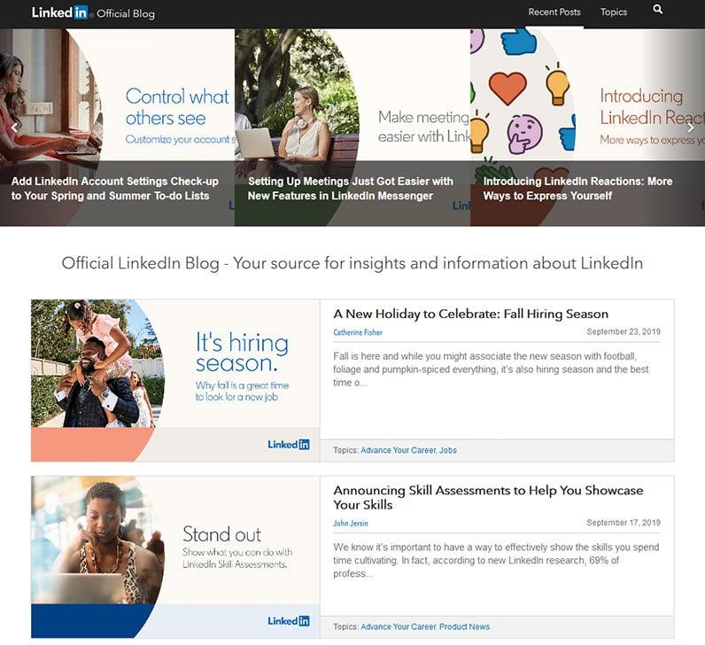 LinkedIn official blog