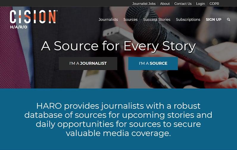 Scision's HARO website header