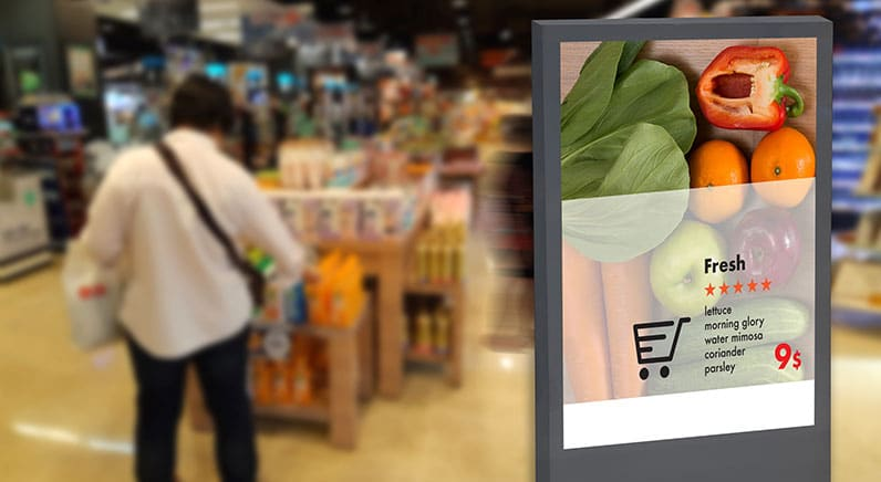 screen showing supermarket offer