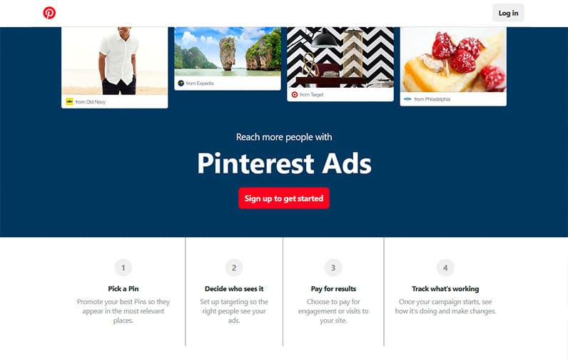 pinterest ads screenshot