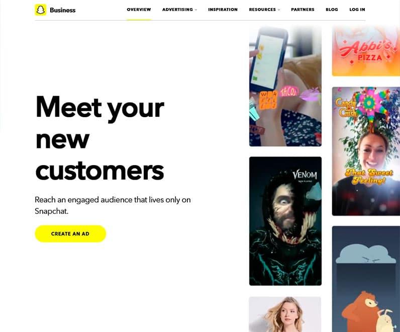 snapchat business screenshot
