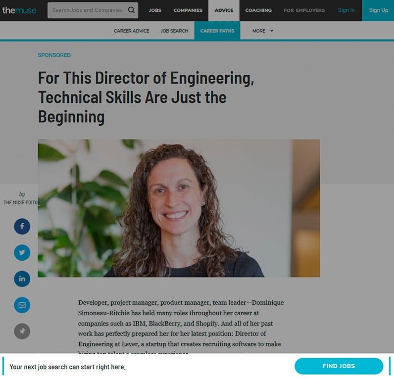 the muse website screenshot