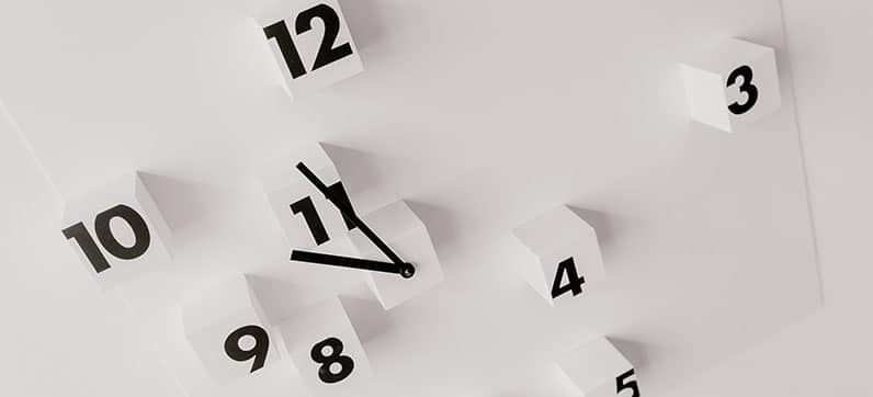 wall clock separated numbers
