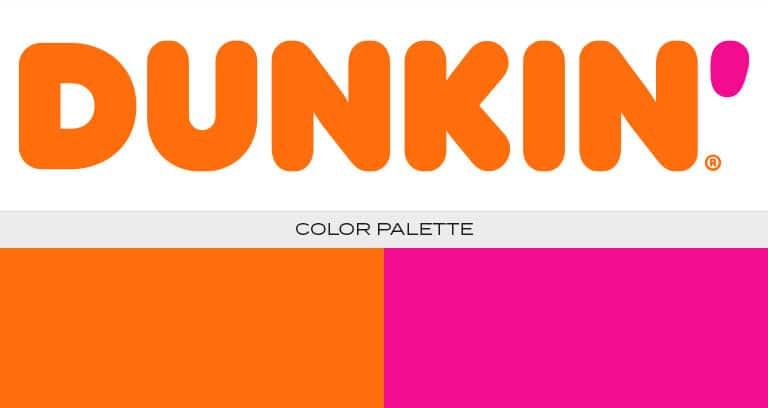 dunkin' logo color scheme