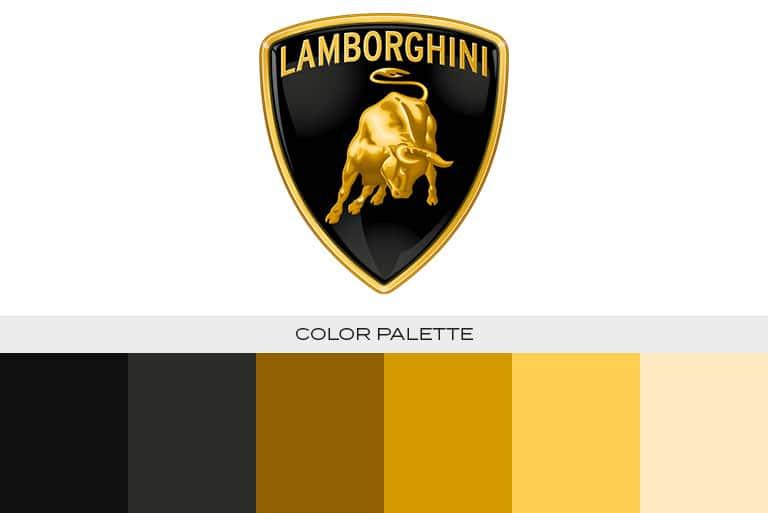 lamborghini logo color scheme