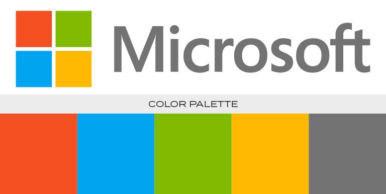 microsoft logo color scheme