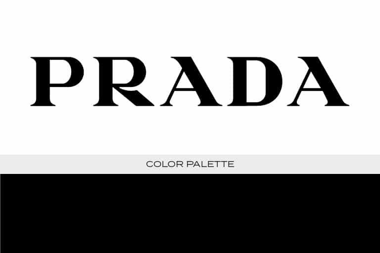prada logo color scheme