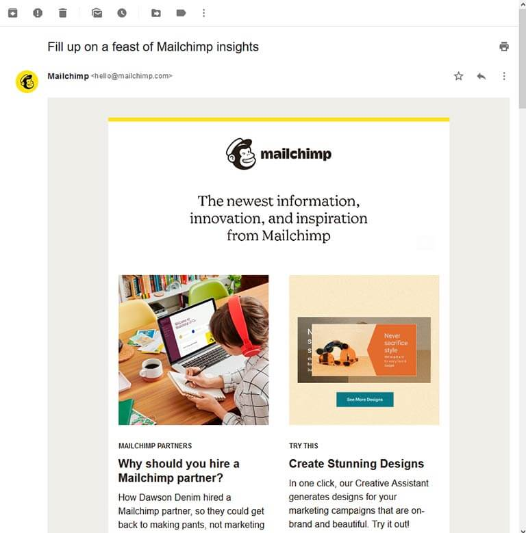 mailchimp email example