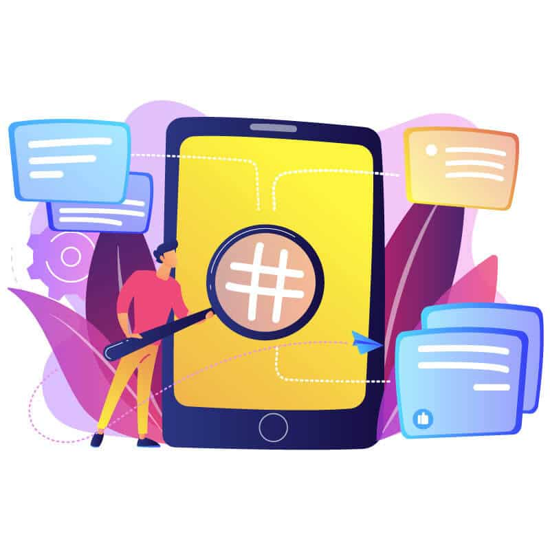 conduct hashtag research.how to