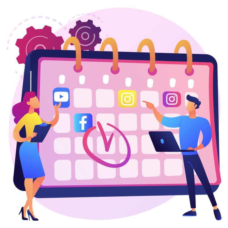 design a social media content calendar.how to