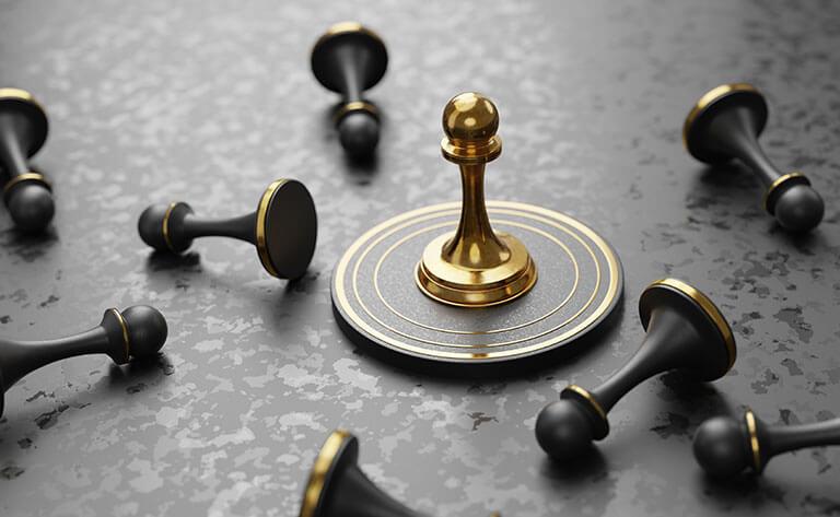 gold black chess