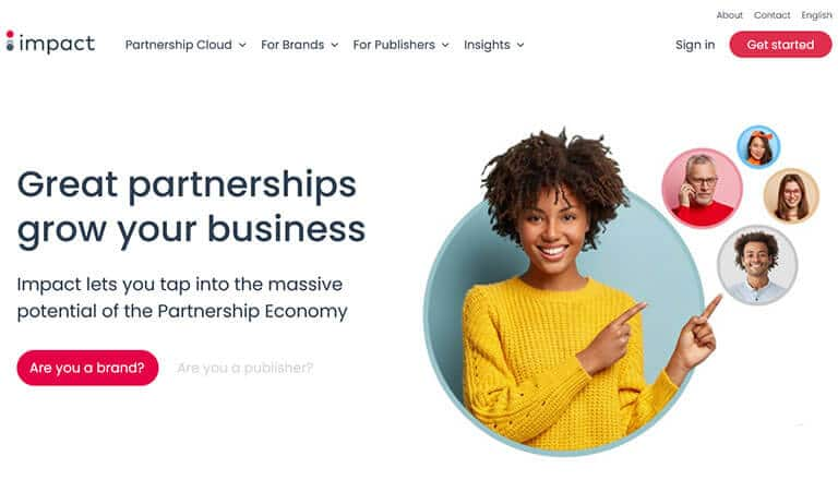 impact affiliate screenshot
