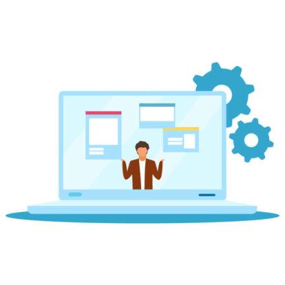 man laptop websites
