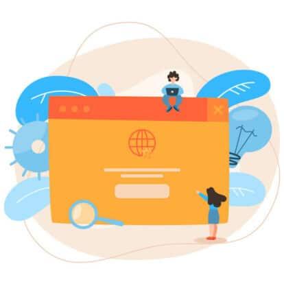 people browsing websites