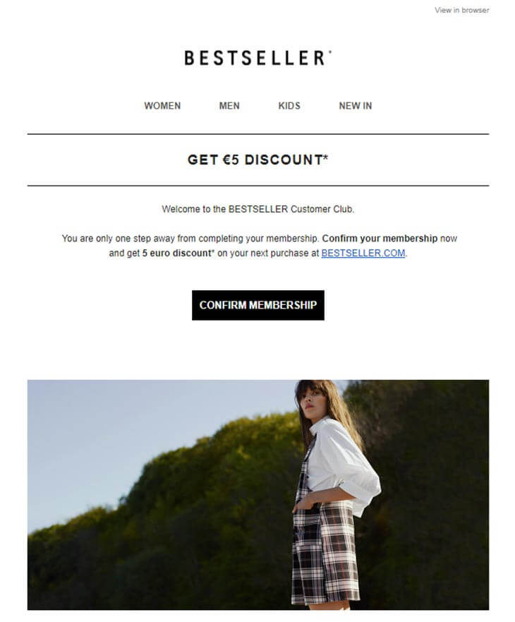 bestseller newsletter screenshot