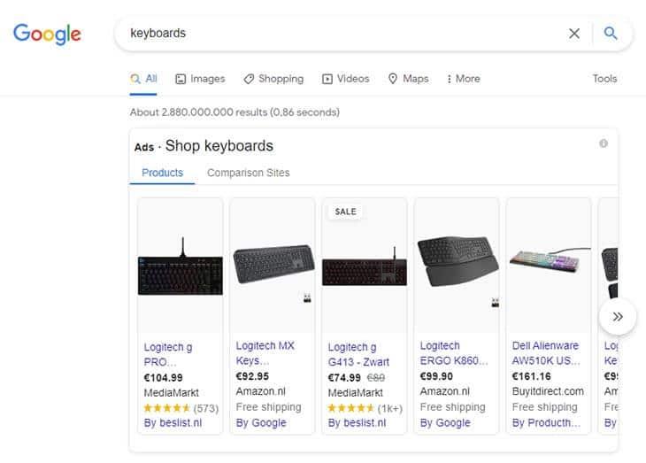 ppc google screenshot